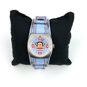 Paul Frank Watch Julius The Monkey & Friends Blue Bund Strap Band New Battery