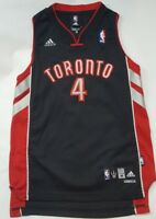 Toronto Raptors Black Chris Bosh #4 NBA Adidas Jersey Youth Medium 10-12