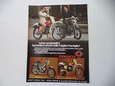 advertising Pubblicità 1977 MOTO CIMATTI KAIMAN SPECIAL 50/NUOVO 86