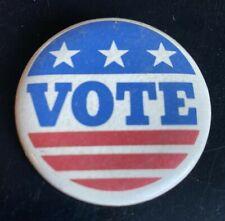 "Vintage Vote Pin Pinback Button Red White & Blue Stars & Stripes 2"""