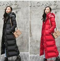 Womens Lady Hooded Jacket Long Coats Duck Down Outwear Winter New Coats Warm Hot