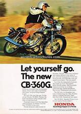 1974 HONDA CB 360G TWIN USA MOTORCYCLE A3 POSTER AD ADVERT ADVERTISEMENT