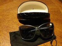 Bifocals Sunglasses Readers Bluish Gray Oversized +1.00 Hummingbird New w/ Case