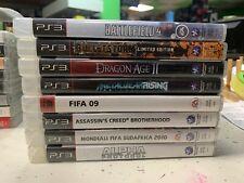 lotto 8 GIOCHI PS3  FIFA  BATTLEFIELD METALGEAR MONDIALI FIFA DRAGON AGE ASSASIN