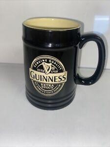 Guinness Original Extra Stout Tankard Mug Black Cream