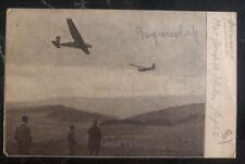 1924 Gersfeld Alemania RPPC Aviación Principios Correo Aéreo Postal Cubierta