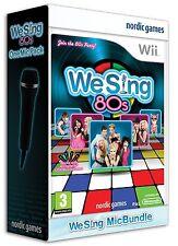 Wii Spiel We Sing the 80s + 1 Stück Mikro Mikrofon 80´s 80er  Achtziger Neu