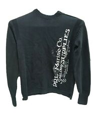 Polo Ralph Lauren PRL Marine Co. Sailing Supplies Print Mens Med Sweater Black