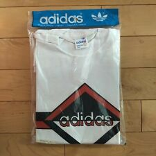 Brand New Original White Adidas T Shirt Made In Canada Vintage 60-70's Era