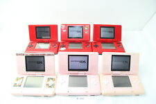 Fully Tested! Lot of 6 Nintendo DS Console System Red Pink NTR-001 NDS #3347