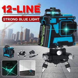 12 Line Laser Level Horizontal&Vertical Self Leveling 360° Rotary Cross