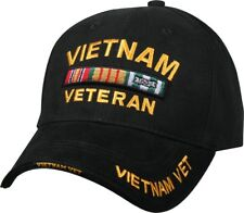 Black Vietnam Veteran Deluxe Low Profile Baseball Hat Cap
