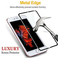 Tempered Glass Screen Protector For Apple iPhone 8 Metal Edge