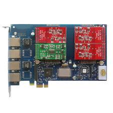 AEX410 3FXO + 1FXS Asterisk card PCI-e card for elastix trixbox freepbx voip pbx