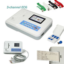 Touch Digital 3-Channel 12-Lead ECG/EKG machine electrocardiograph, PC Software