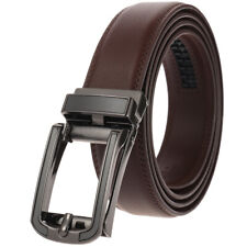 Men Classic Metal Buckle Handcrafted Genuine Leather Belt Business Waistband USA