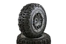 Pioneer Truck Wheels Black Pioneer Rims Front Pair Fits KM HPI Baja Buggy 1/5th