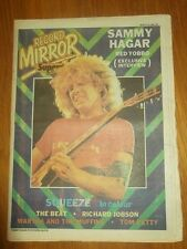 RECORD MIRROR MARCH 15 1980 SQUEEZE BEAT RICHARD JOBSON TOM PETTY SAMMY HAGAR