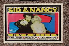 Sid and Nancy Lobby Card Poster Love Kills Gary Oldman