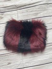 Blue Banana Fluffy Handbag Clutch Shoulder Small Black Red