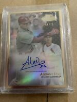 Aledmys Diaz Framed Autograph Card 2017 Topps Gold Label Black 64/75 Cardinals