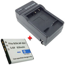 NP-BN1 Replacement 630mAh Battery + Charger for SONY DSC-WX5 DSC-WX5/B DSC-WX5/S