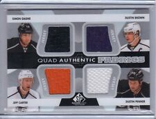 2012-13 SP Game Used Quad Authentic Fabrics #AF4-LAK Carter Brown Penner Gagne