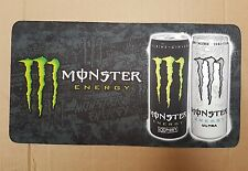 "2x Monster Energy neoprene Bar Runners Pub Shed Bar Man Cave 16"" x 8.5"" black"
