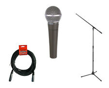 Shure SM58 Cardioid Dynamic Vocal Microphone with Stand and Cable PROAUDIOSTAR