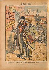 Caricature Antisémite Juifs Jewish Vente Biens Eglise France 1920 ILLUSTRATION