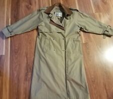 Braefair Lined Trench Rain Coat with Removable Lining & Collar for Women, Size