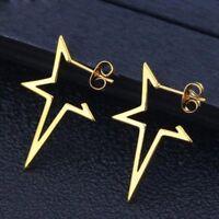 Women Fashion Open Star Earrings Stainless Steel Earring Jewellery Gift Party