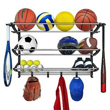 Lynk Rack with Adjustable Hooks Equipment Organizer/Sports Gear Storage Black. P