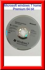 Microsoft Windows 7 Home premium SP1 64bit Full Version DVD Product Key COA