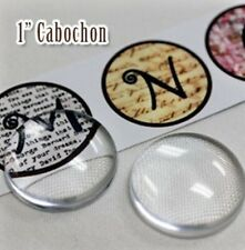 """6 Clear Acrylic 1/2"""" Or 1"""" Cabochon Picture Pebbles that Magnifies Images"""