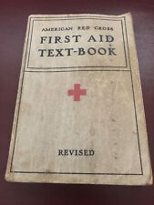Vintage American Red Cross First Aid Textbook 1937 Edition Soft Cover