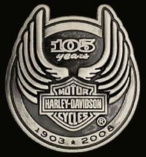 HARLEY DAVIDSON 105TH ANNIVERSARY PIN   NEW