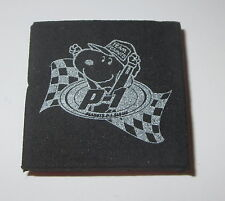 Snoopy Rubber Stamp Team Peanuts Racing Car P-1 Flag Foam Mounted New Rare