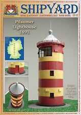 Shipyard Lighthouse Pilsumer In Germany Cut Out Paper Model Scale 1:87 HO