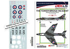 """Decals Hawker Hunter """"The Tower Bridge Incident"""" 1/72 Scale"""