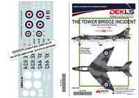 "Decals Hawker Hunter ""The Tower Bridge Incident"" 1/72 Scale"