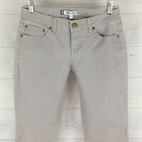 Jennifer Lopez JLO Womens Sz 4 Short Stretch Solid Gray Metallic Straight Jeans