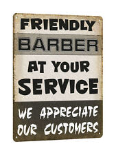 BARBER SHOP METAL sign LOCAL hair salon VINTAGE style GREAT GIFT wall decor 546