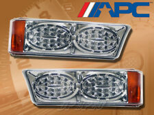 LED LOOK CLEAR CORNER PARKING SIGNAL LAMPS LIGHTS FOR 03-07 SILVERADO AVALANCHE