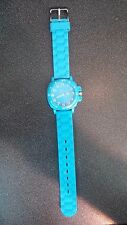 Bright blue ladies Target silicone rubber quartz watch