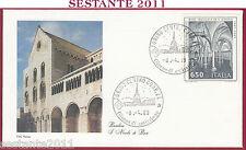 ITALIA FDC ROMA BASILICA DI S. NICOLA BARI CRIPTA 1989 ANNULLO TORINO U135