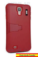 Funda Samsung I9505 / I9500 Galaxy S4 protectora / bumper con soporte roja rojo