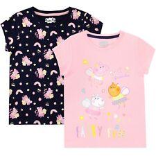 Peppa Pig T-Shirts Pack of 2 | Girls Peppa Pig Short Sleeve Top | Kids Tees