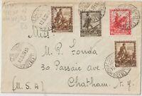 1939 10CX2 +30C+75C IMPERO SU BUSTA DA GENOVA X USA