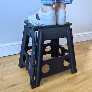 SMALL FOLDING STEP STOOL HOME KITCHEN FOLDABLE GARDEN SEAT MULTI PURPOSE STORAGE